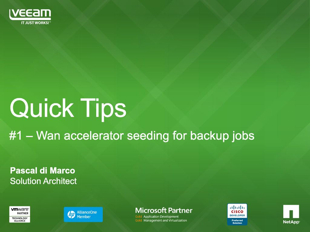 Quick Tips #1 – Wan accelerator seeding for backup jobs