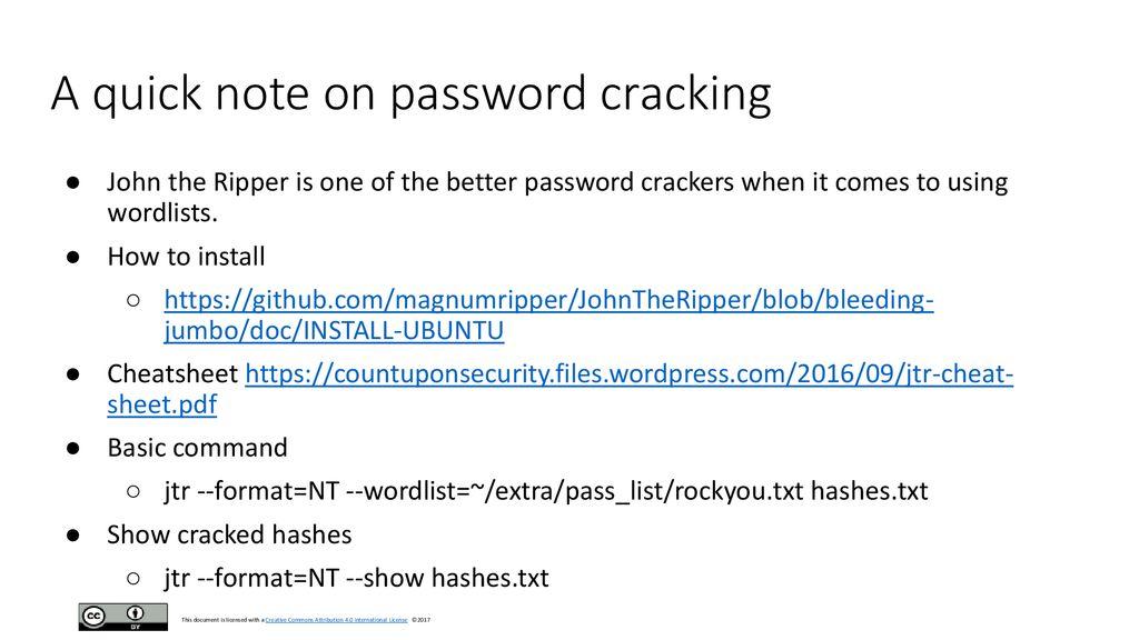 Password Cracker Github