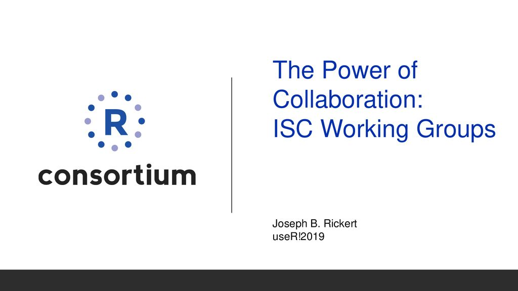 The Power of Collaboration: ISC Working Groups