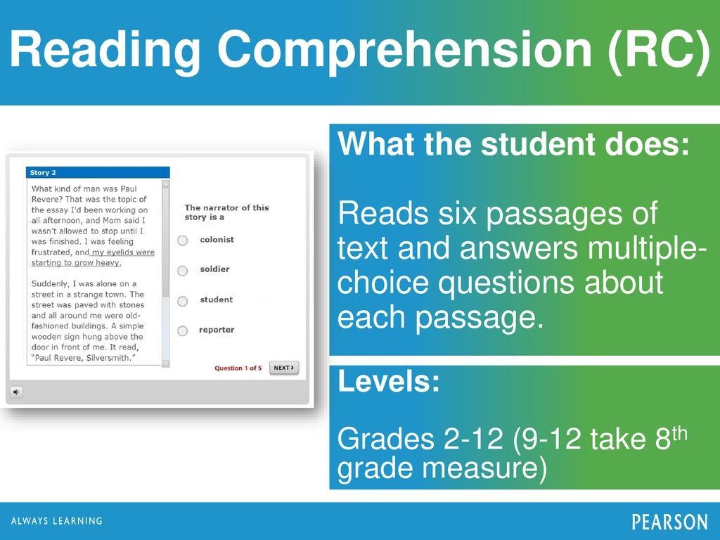 Comprehension Passages For Grade 9 Mcq