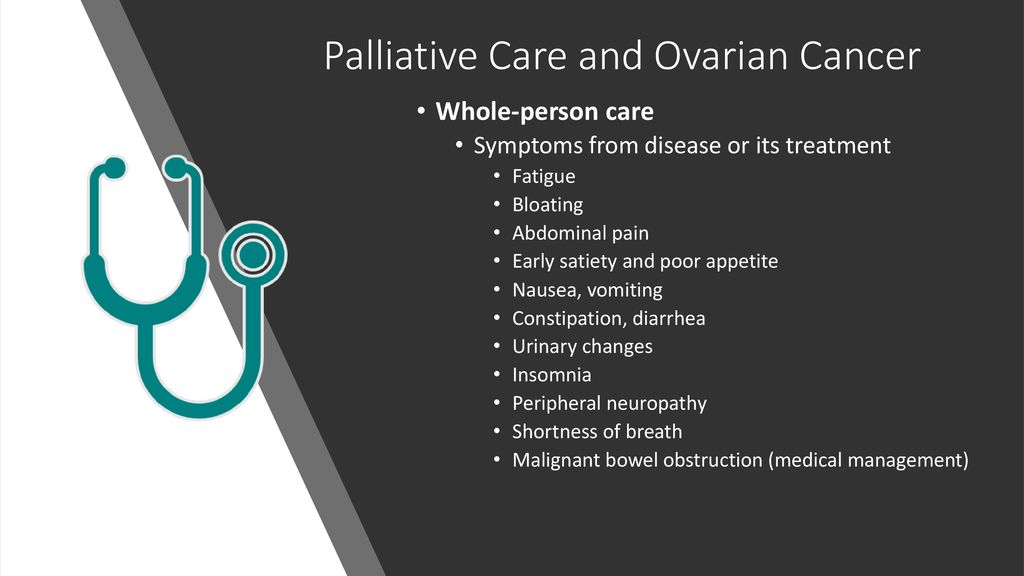 Living With Ovarian Cancer How Palliative Care Can Help Ppt Download