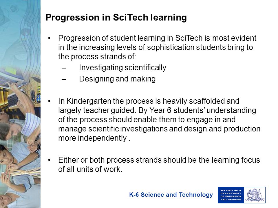Progression in SciTech learning