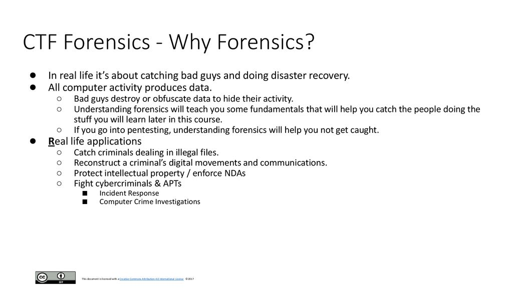 CTF Forensics Part 0x01