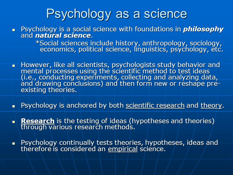 is psychology a science