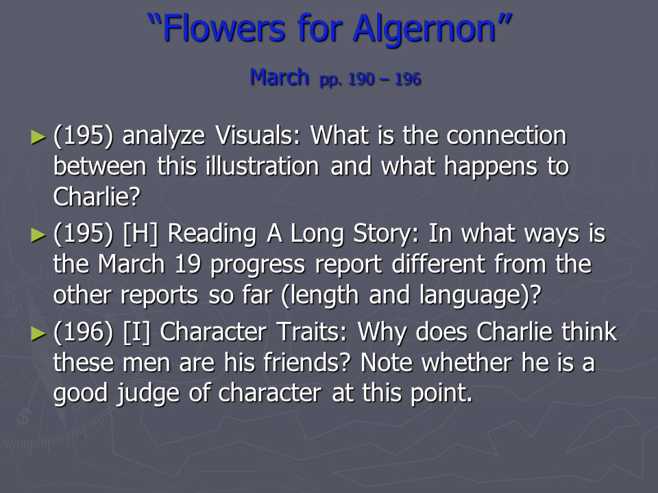 flowers for algernon character traits
