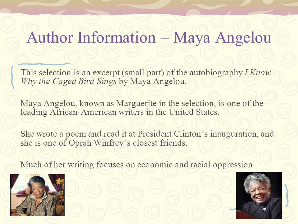 sister flowers by maya angelou summary