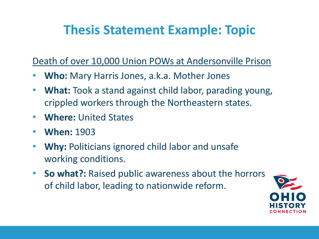 thesis statement examples child labor