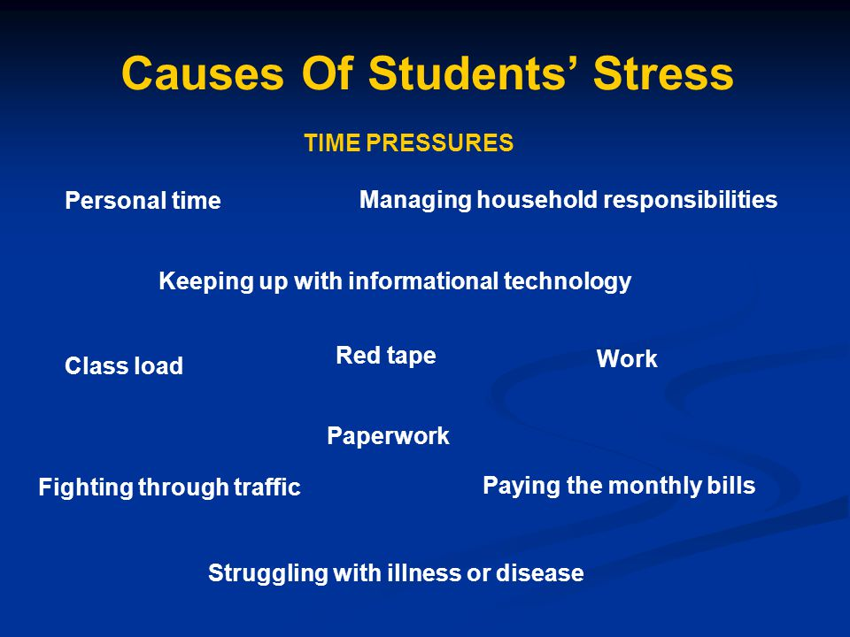 what causes stress in students