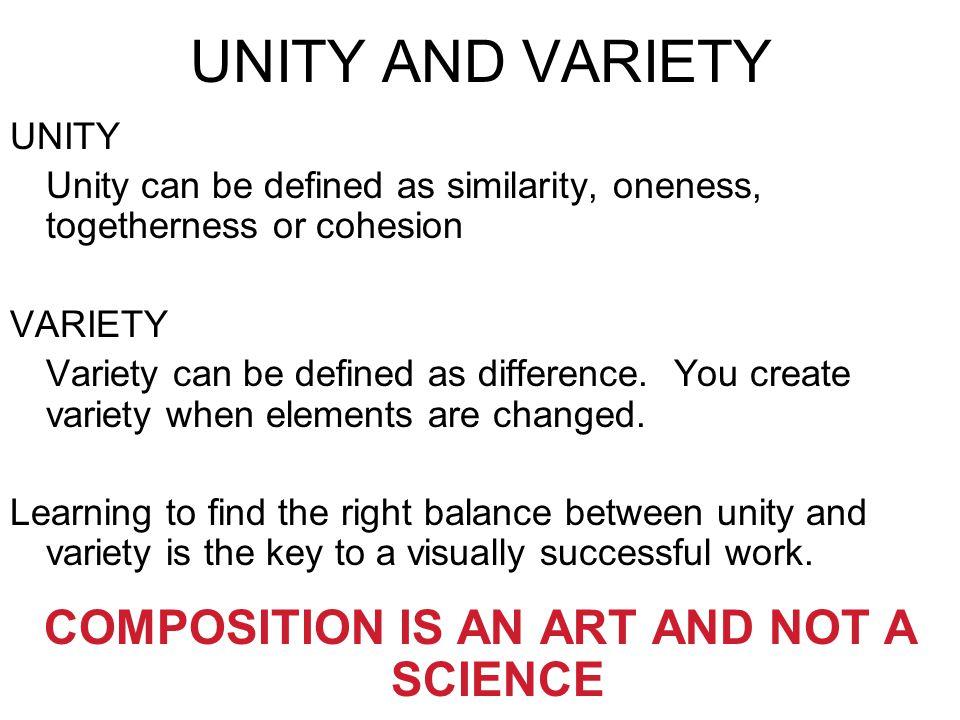 compositional unity art definition