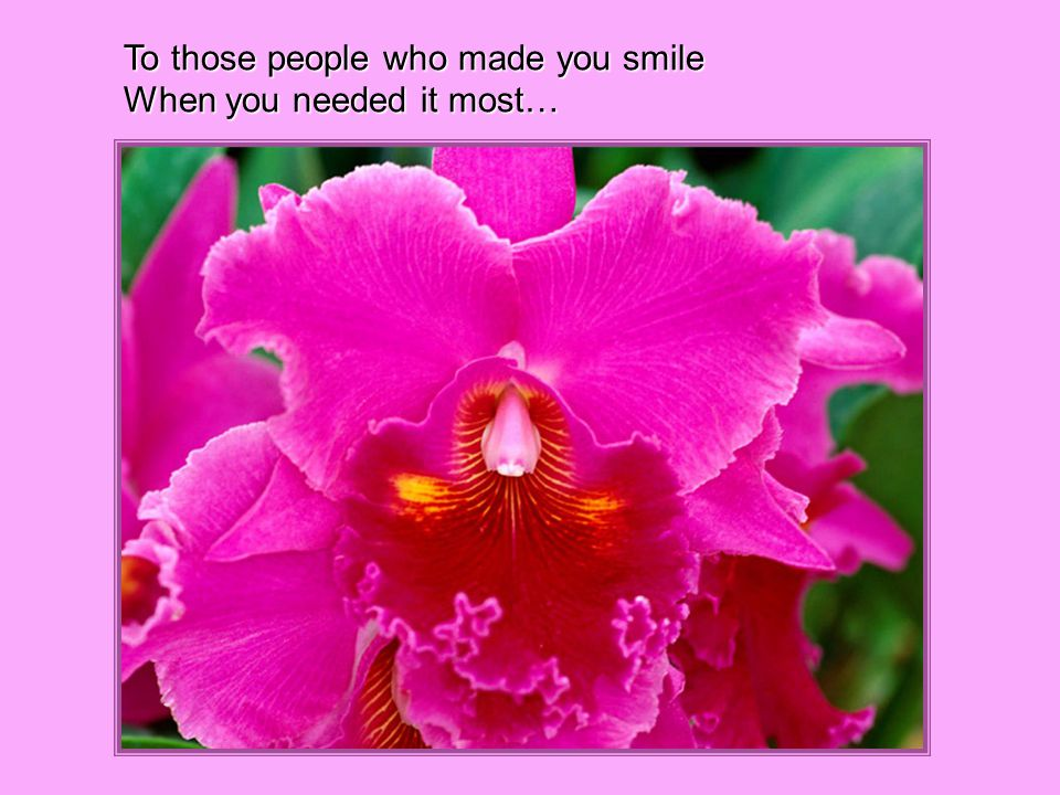 To those people who made you smile