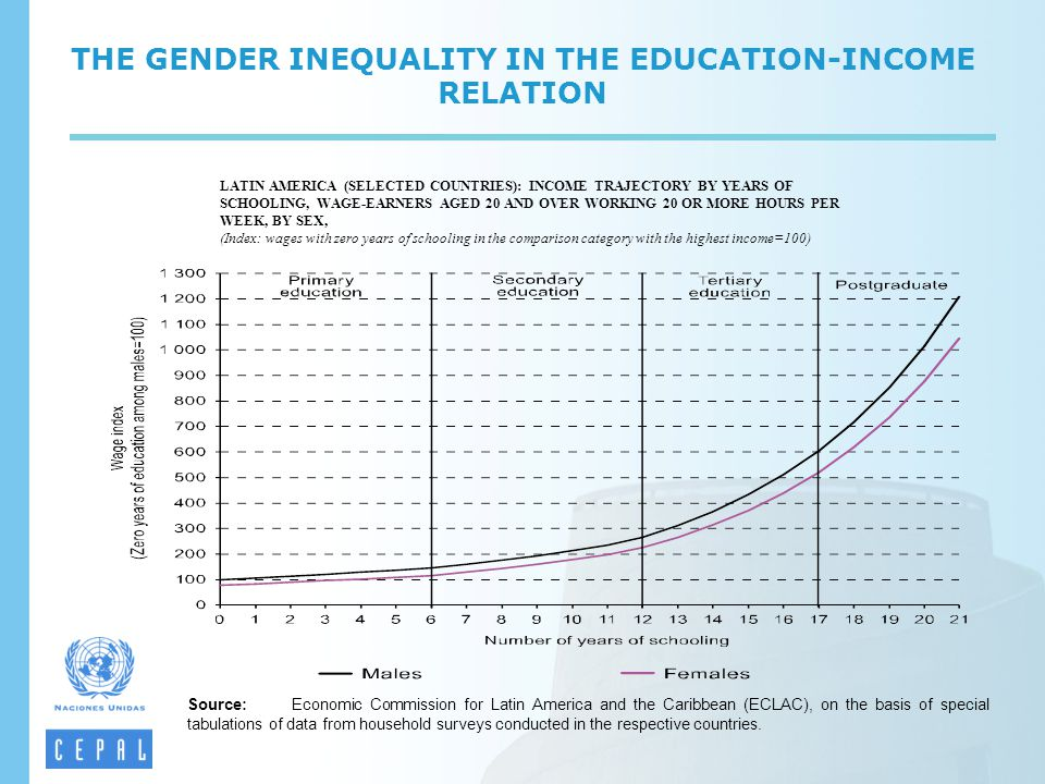THE GENDER INEQUALITY IN THE EDUCATION-INCOME RELATION