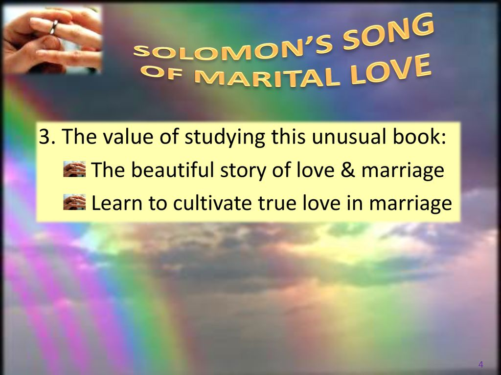 SOLOMON'S SONG OF MARITAL LOVE - ppt download