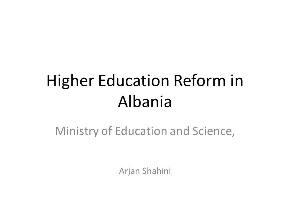 Higher Education Reform in Albania