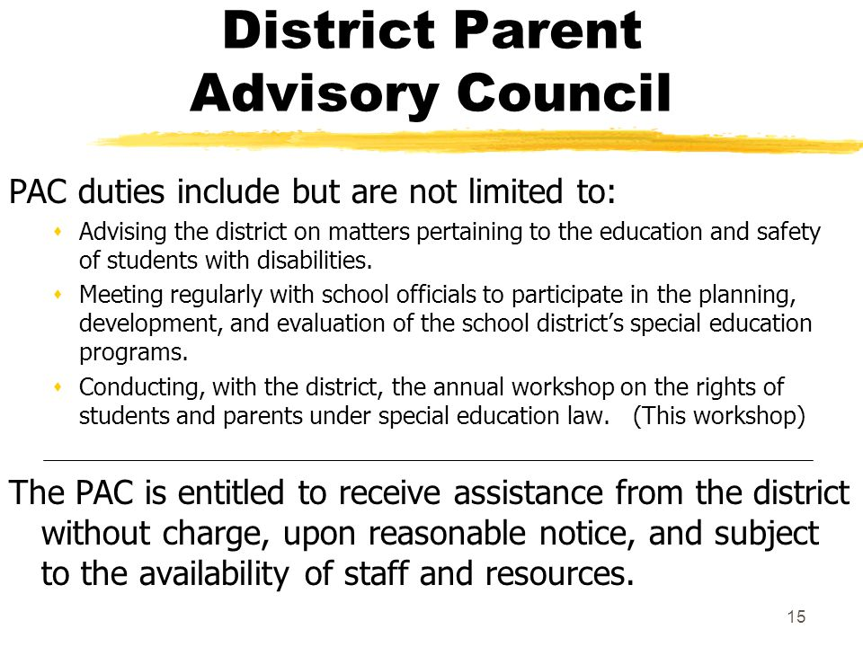 District Parent Advisory Council