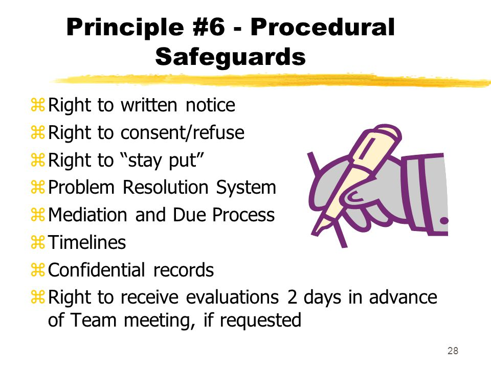 Principle #6 - Procedural Safeguards