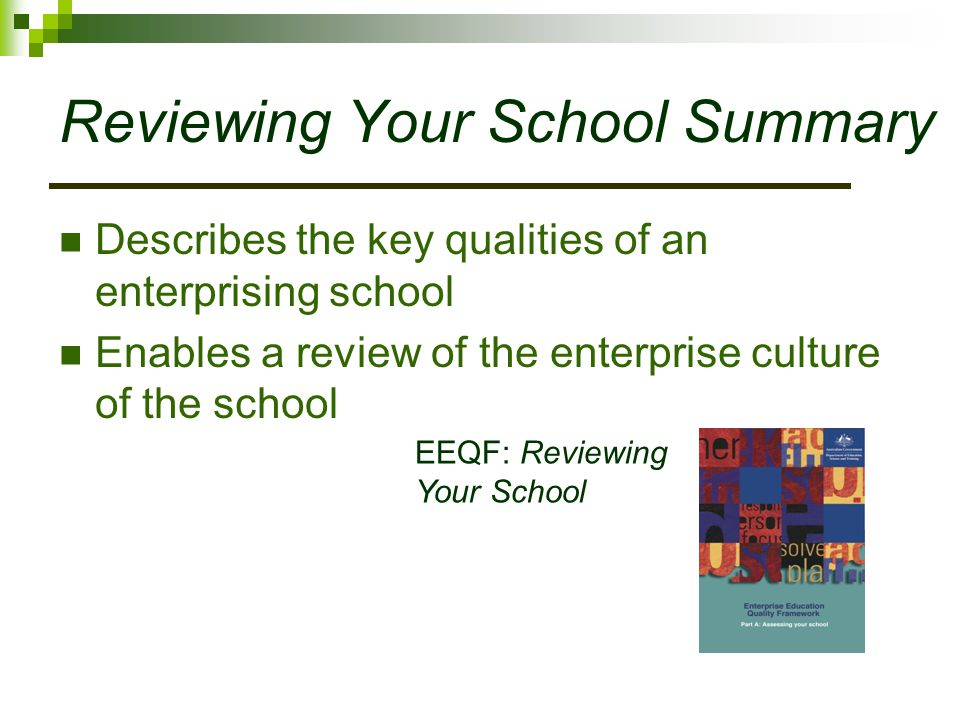 Reviewing Your School Summary