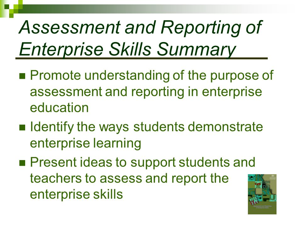 Assessment and Reporting of Enterprise Skills Summary