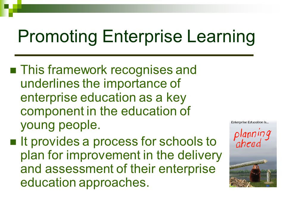 Promoting Enterprise Learning