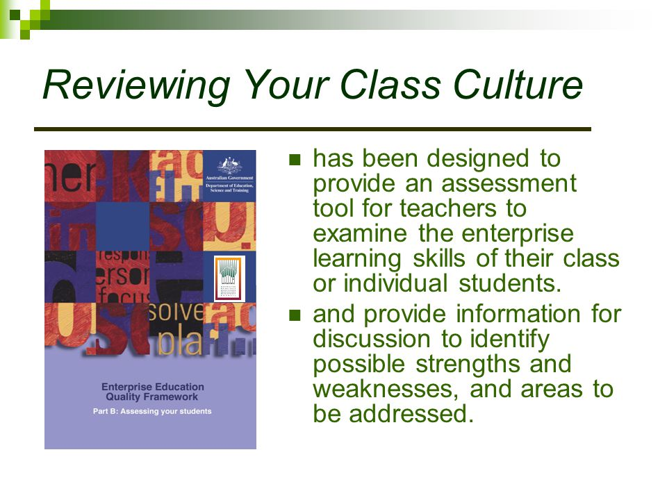 Reviewing Your Class Culture