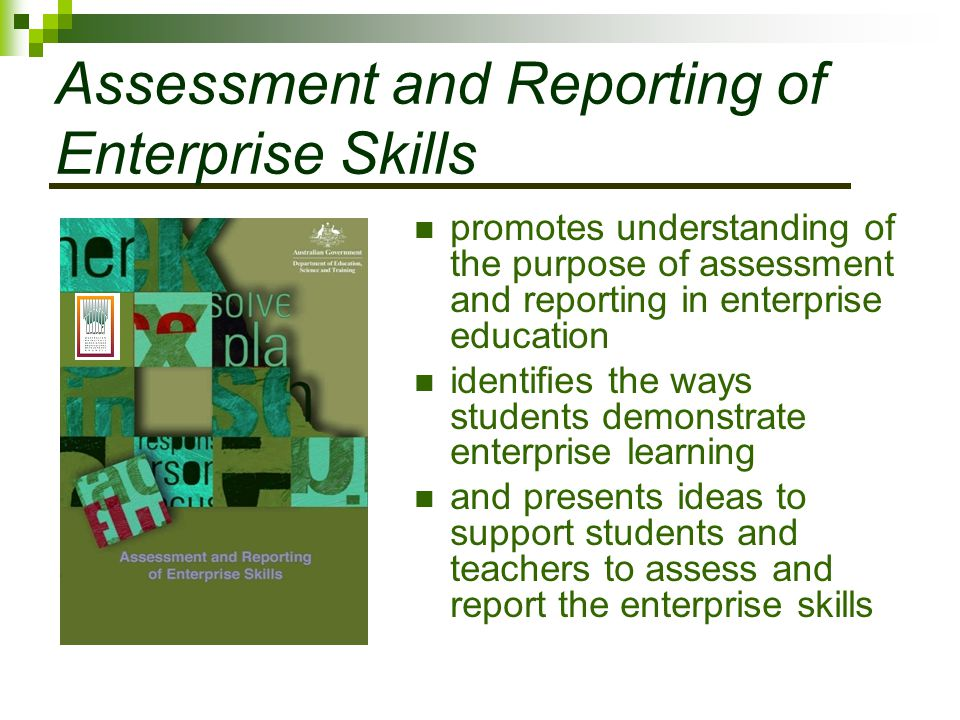 Assessment and Reporting of Enterprise Skills