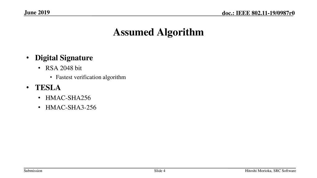 Comparison of Digital Signature with TESLA - ppt download