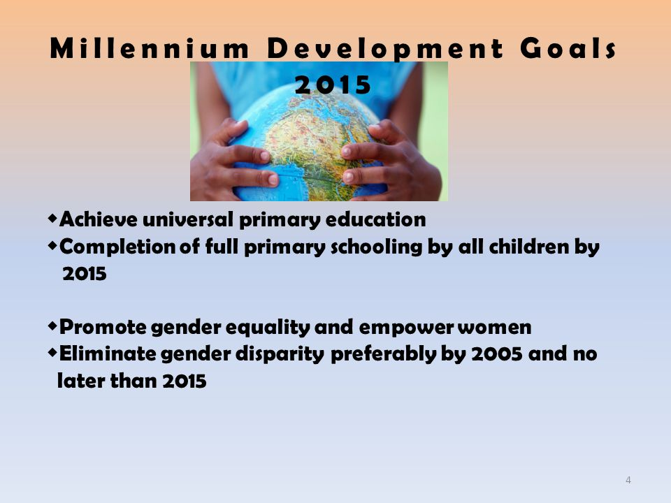 Millennium Development Goals 2015