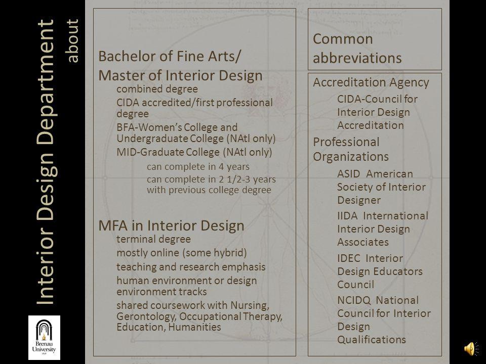 Interior design department ppt video online download - Master degree in interior design ...