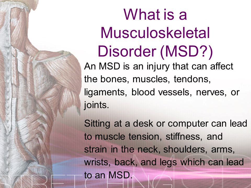 What is a Musculoskeletal Disorder (MSD )