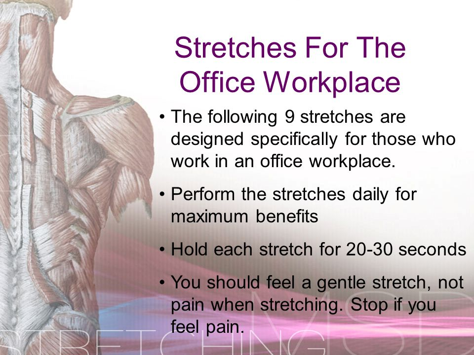 Stretches For The Office Workplace