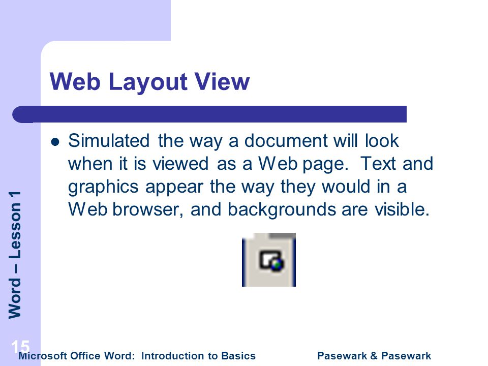 Web Layout View