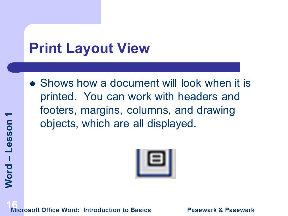 Print Layout View