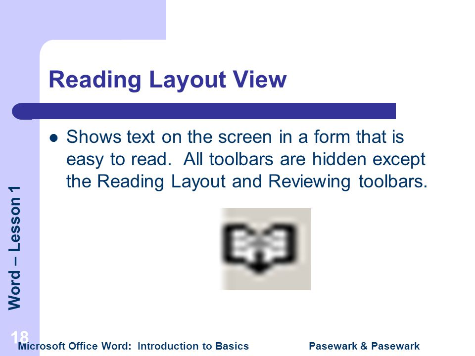 Reading Layout View