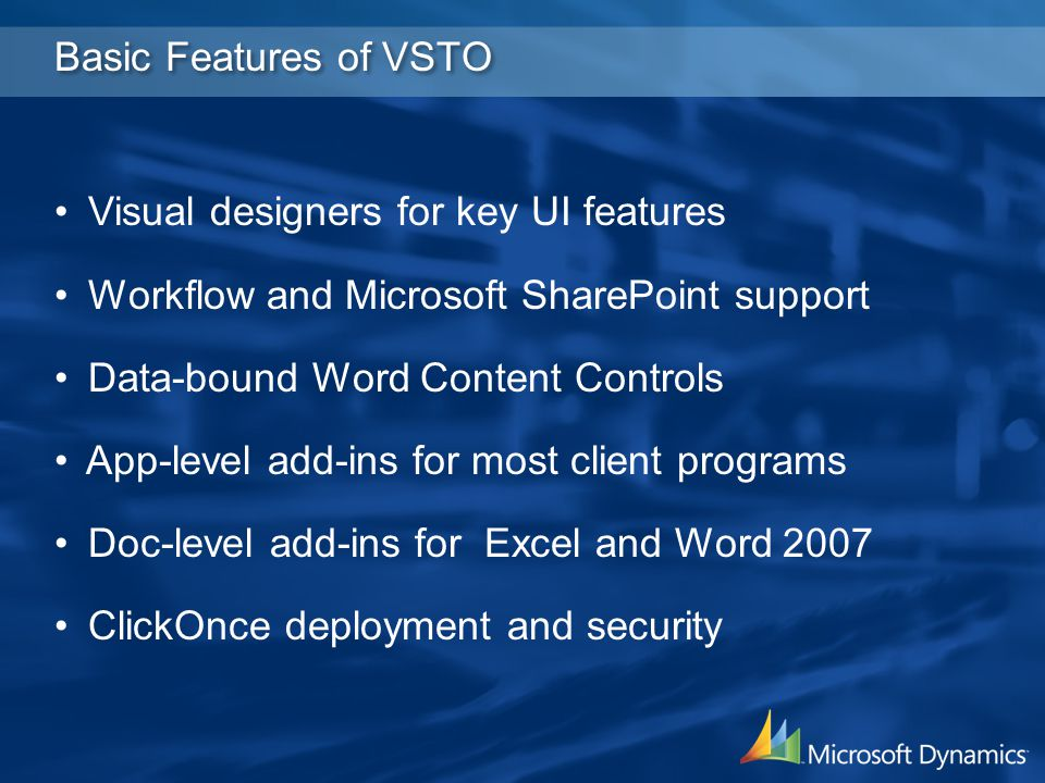 Office Business Applications for Microsoft Dynamics AX - ppt