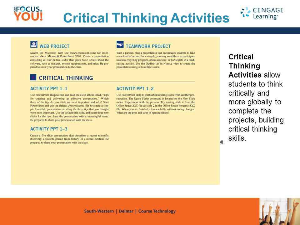 designing learning activities that promotes critical thinking in nursing Critical thinking and reflective thinking are often  data to encourage reflective thinking during learning activities  designing technology to.