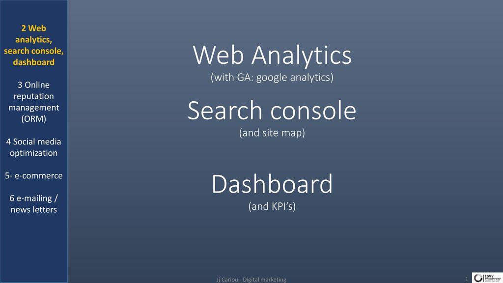 kpi google search console