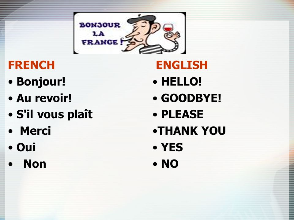 My first words in french ppt video online download 4 french bonjour m4hsunfo