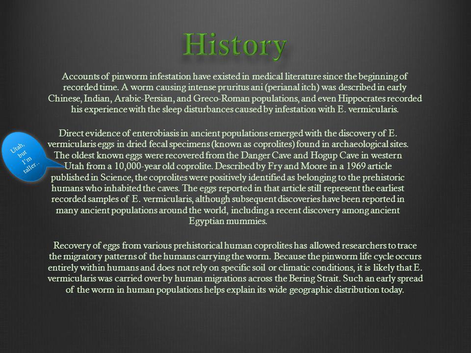 enterobius vermicularis history)