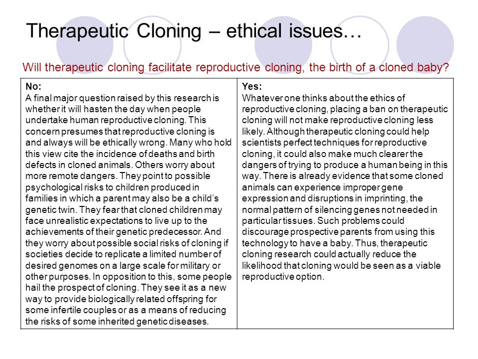 the benefits of research cloning