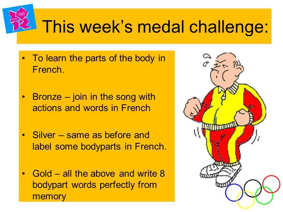 This week's medal challenge: