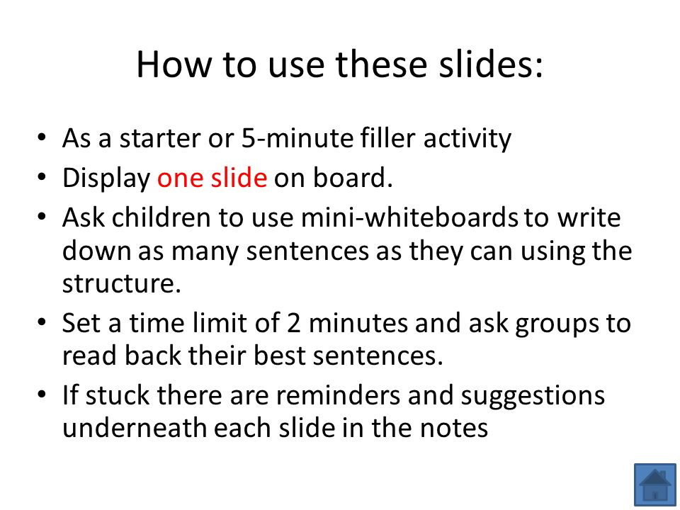 How to use these slides: