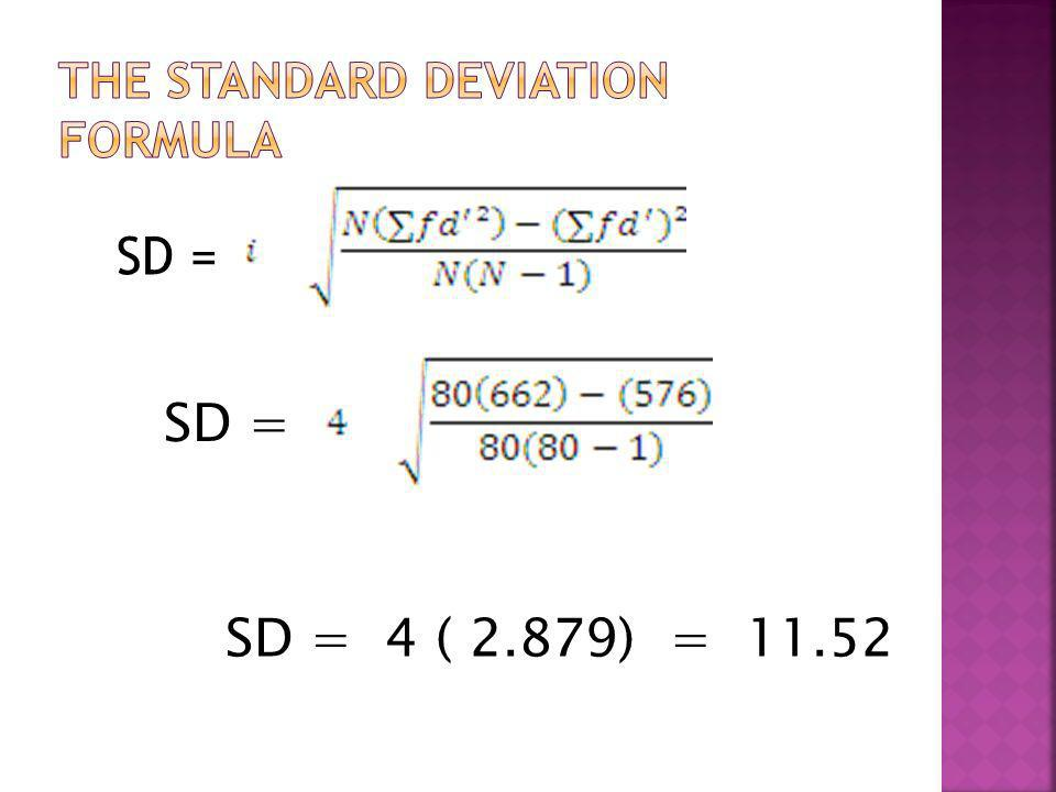 The Standard Deviation Formula
