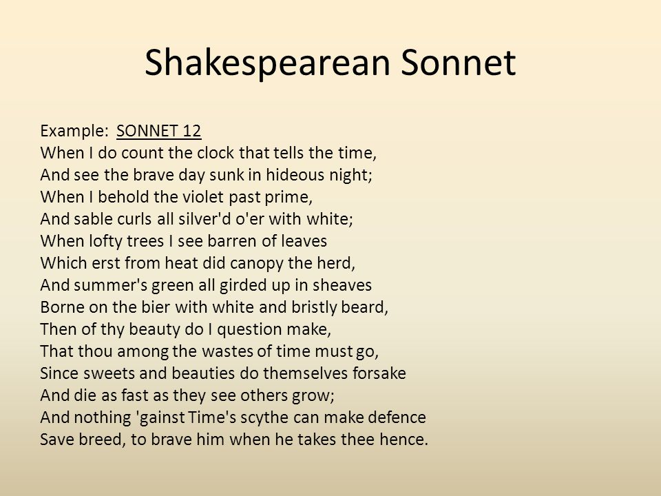Sonnet Example Choice Image Example Cover Letter For Resume