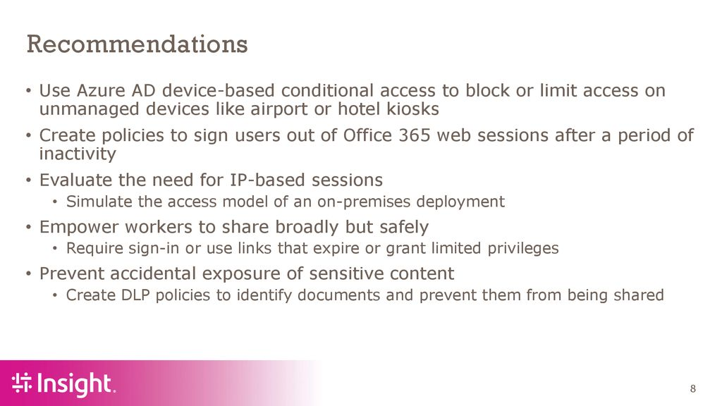 Office 365 Security Features For SharePoint Admins - ppt