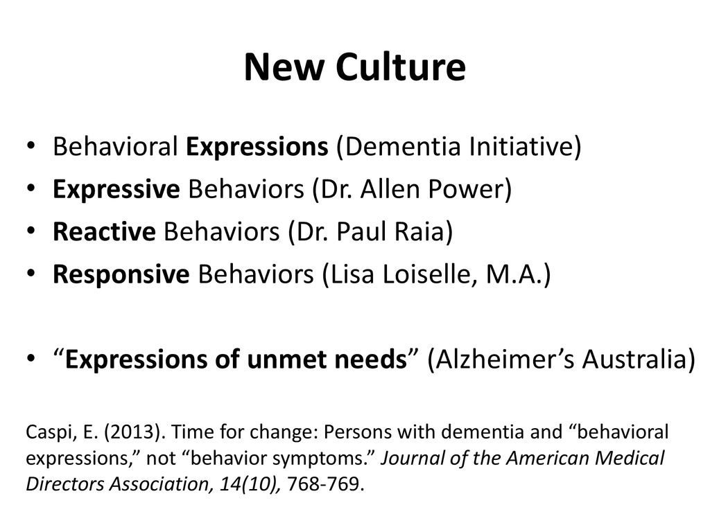 Dementia Behavior Consulting LLC - ppt download