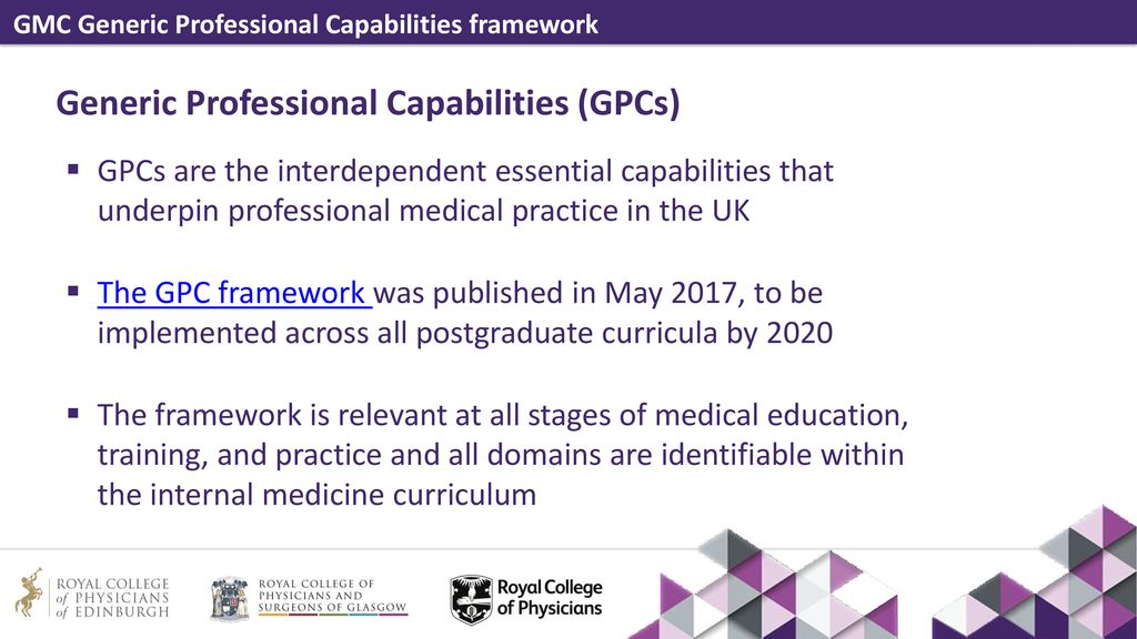 Gmc Generic Professional Capabilities Framework Ppt Download