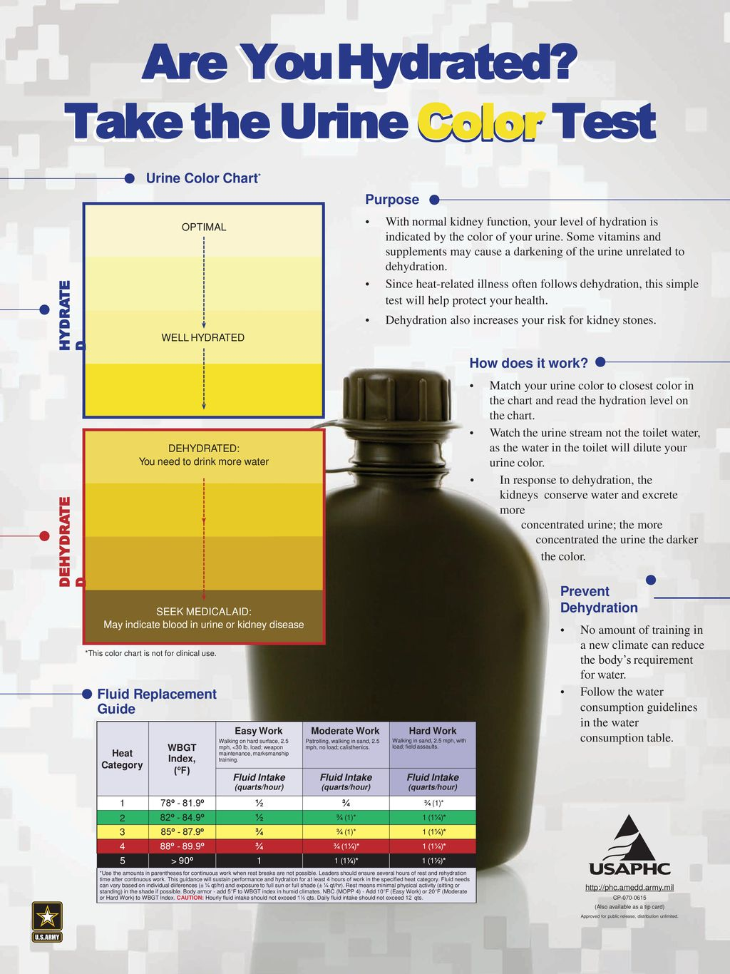 Are You Hydrated Take The Urine Color Test Ppt Download