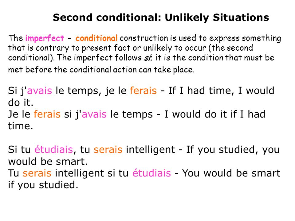 Second conditional: Unlikely Situations
