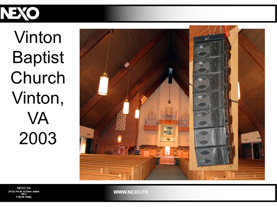 Vinton Baptist Church Vinton, VA 2003