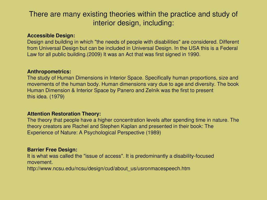Design Theory The Built Environment And Responsive Human Behavior Ppt Download