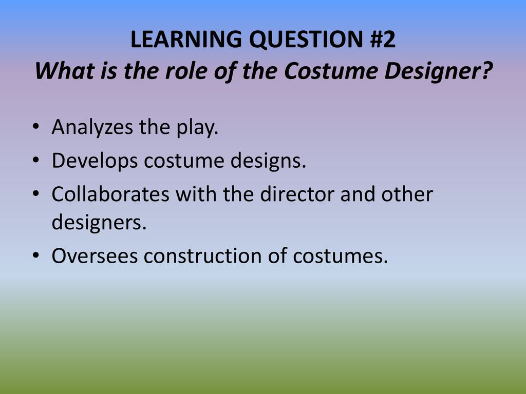 Costume Design Unit Review Version Ppt Download